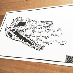 #drawing #draw #illustrator #illustration #sketch #flashtattoo #tattoo #print #screenprinting #deco #home #ink #paper @typo #letter #font #crocodile #story #darkartists #iblackwork #blackwork #linework #dotwork