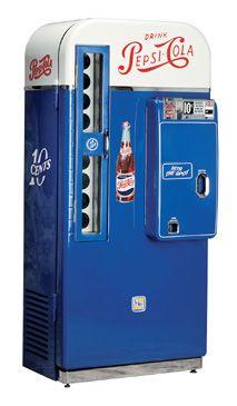 Choosing a Classic Soda Machine to Restore.interesting info re retro machine restoral. Soda Vending Machine, Vending Machines, Coke Machine, Soda Machines, Vintage Coke, Vintage Stuff, Pepsi Cola, Old Ads, The Good Old Days