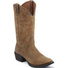 2555 Justin Men's Stampede Western Boots - Tan www.bootbay.com