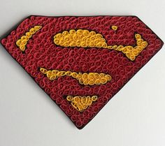 Quilled superman sign