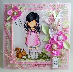 A Sprinkling of Glitter: Simply Gorjuss - Simon Says Stamp DT Card