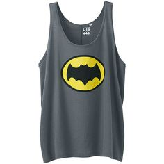 UNIQLO American Movie Graphic Tank Top (Batman) ($4.40) ❤ liked on Polyvore featuring batman, shirts, tops, uniqlo and comic book