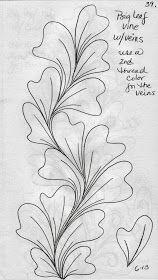 Big Leaf Vines by LuAnn Kessi: Quilting Sketch Book. Love this shape! Quilting Stencils, Longarm Quilting, Free Motion Quilting, Machine Quilting Patterns, Quilt Patterns, Zentangle Patterns, Zentangles, Quilt Stitching, Quilting Tutorials