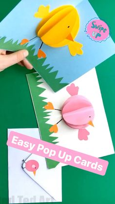 On Red Ted Art we ADORE easy pop up cards for all occasions! Make these adorable pop up chick cards for Spring, Easter or Mother's Day! So easy and so cute! Adorable Paper Easter Craft for kids. art for kids Pop Up Chick Card for Easter - Red Ted Art Spring Crafts For Kids, Paper Crafts For Kids, Art For Kids, Summer Crafts, Kids Birthday Cards, Diy Birthday, Vintage Birthday, Birthday Quotes, Happy Birthday