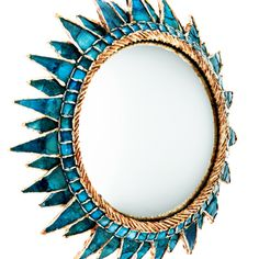 Line Vautrin mirror, from an article in the WSJ. At first I thought this was another view of the other blue Vautrin I pinned, but closer examination reveals that they are different.