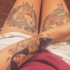 tinyfawnxo:I like Disney. I like tattoos. This is the outcome #shitivegotalotofdisneytattoos
