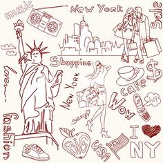 Download Shopping In New York Doodles Stock Image and other stock images, photos, icons, vectors, backgrounds, textures and more.