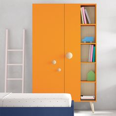 Children's Standalone Wardrobe by Nidi Design. Beautiful 2-3 door wardrobes by Batistella of Italy. Many different sizes, internal layouts and 14 colours are available; and you can mix and match most of the options.