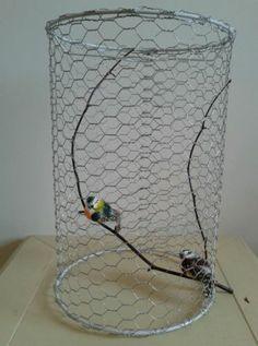 Stunning Birdcage Chandelier. Bird Lampshade. French Shabby Chic. | eBay