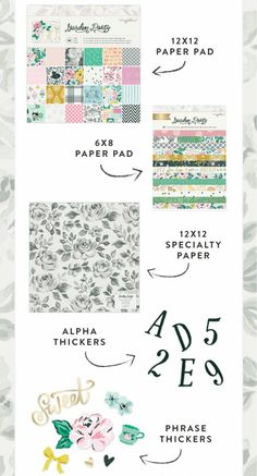 Crate paper | Maggie Holmes | Garden party collection Specialty Paper, Crate Paper, American Crafts, New Product, Crates, Bullet Journal, Party, Collection, Garden