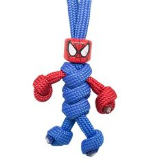 The Spiderman Paracord Keychain Buddy is the ultimate accessory for any Marvel f. The Spiderman Paracord Keychain Buddy is the ultimate accessory for any Marvel f. Paracord Knots, Paracord Keychain, 550 Paracord, Paracord Bracelets, Macrame Art, Micro Macrame, Yarn Crafts, Bead Crafts, Rope Art