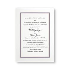 Color Kicked Classics Wedding Invitations - LIMITED STOCK ON HAND by TheAmericanWedding.com