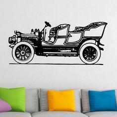 Quality Old Fashioned Vintage Car Wall Sticker