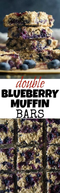 Blueberry Muffin Bars - the light and fluffy texture of a muffin ...