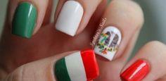Más de 25 fotos de uñas decoradas con los colores de México