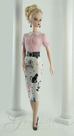 Vintage Cats outfit for Barbie FROM: by Gwendolyns Treasures, via Flickr