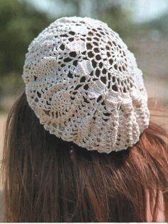 Crochet lace ladies beret  ♥LCH♥ with diagram