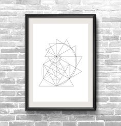The Golden Spiral, also known as the golden section, golden mean, golden ratio and Fibonacci spiral.    High quality print on a wood free paper - 11X16