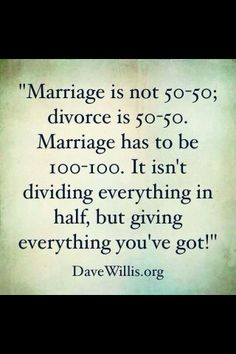 Marriage is a room without an exit. It breaks my heart that people just jump into something as heavy as marriage. Because so many people consider divorce an option. I pray this changes.