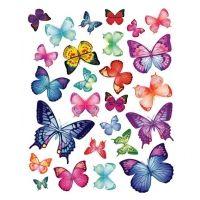 Kidzsupplies   Decowall muursticker vlinders vibrant butterflies   Webwinkel voor baby- en kinderkamer decoratie