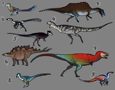Dinosaur adoptables by GoldenNove Dinosaur Drawing, Dinosaur Art, Creature Drawings, Animal Drawings, Jurassic Park, Study Of Dinosaurs, Cute Reptiles, Extinct Animals, Prehistoric Creatures