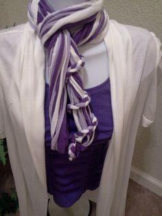 Purple Passion T Shirt Scarf by LonestarFashions on Etsy, $15.00