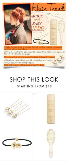 """Quick & Easy Updo!"" by cafejulia ❤ liked on Polyvore featuring beauty, Alterna, Henri Bendel and L. Erickson"