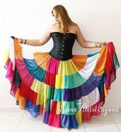 SAIA COLORIDA Afghan Clothes, Afghan Dresses, Skirt Fashion, Fashion Outfits, Flamenco Skirt, Ghaghra Choli, Fancy Skirts, Textiles, Skirt Outfits