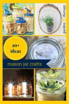 20+ Mason Jar Crafts and Gardening in Jars - Garden Therapy