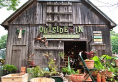Our unique garden shop right here at the herb farm! #gardenshop