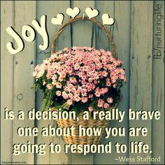 nurturing life / quotes about joy