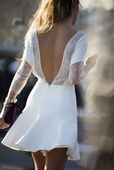 346cefcc3c541 Yaz için 30 trend beyaz elbise modeli 2015 Bahar Modası, Moda Ayakkabılar,  Sırt Açık