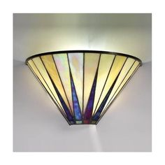 Dark Star Tiffany Wall Light 64046 by Interiors Discover our ranges of Tiffany Lamp, Art Deco and Traditional Lighting, free delivery. Tiffany Kunst, Tiffany Art, Tiffany Glass, Art Deco Wall Lights, Art Deco Lighting, Wall Sconce Lighting, Lighting Ideas, Stained Glass Lamps, Stained Glass Patterns