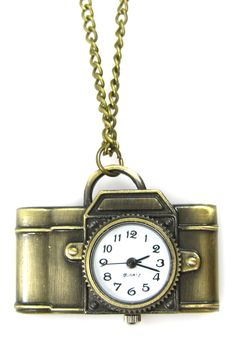 Eye Candy Los Angeles | Light Camera Action Pocket Watch Necklace