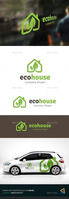 Eco House Logo Design Template Vector #logotype Download it here: http://graphicriver.net/item/eco-house/15541590?s_rank=1145?ref=nesto
