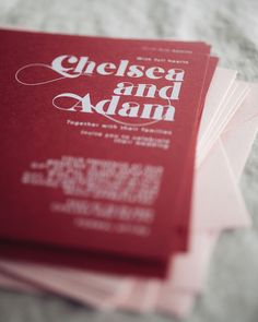 White Ink on Rouge with Dusty Pink envelopes for Chelsea and Adam's Wedding.    . . . . . #weddinginvitation #Australianwedding… Chelsea And Adam, Pink Envelopes, White Ink, Dusty Pink, Wedding Invitations, Red, Wedding Invitation Cards, White Tattoos, Dusty Rose