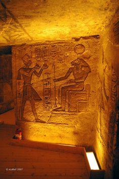 Interior The Great Temple of Rameses II Abu  Simbel