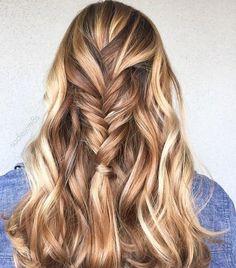 carmel blonde highlights