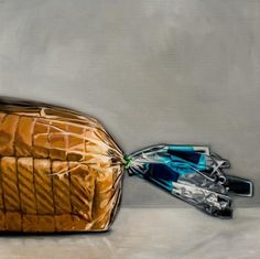 "Daily Paintworks - ""Fresh Bread Loaf"" - Original Fine Art for Sale - © Lauren Pretorius"