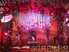 A stunning mandap with  enchanting flower waterfalls - Wedding Design by Gurleen M Puri #wedding #weddingplanner #modern #love #beauty #decor #indianweddings #happilyeverafter #floral #exquisite #instacool #nofilter #picoftheday #gurleenmpuri #bride #groom #indianbride #weddingdecor #weddings #weddingphoto #weddingplanning #mumbai