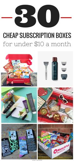 The best subscription boxes for under $10 a month!