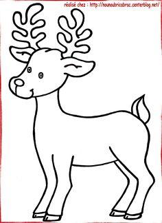 Bonjour, Noël approche à grand pas...Voici le coloriage d'un Renne [/COLOR][/b] [b][COLOR=green][SIZE=14]que ...