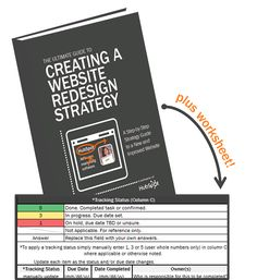Website Redesign Planning & Progress Kit: A Strategy Guide & Progress Worksheet to Plan Your Redesign