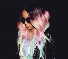 insanely awesome rainbow ombre. if only i was a rockstar!