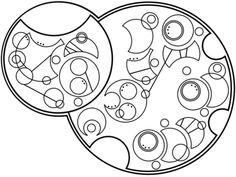"""I can see everything. All that is, all that was, all that ever could be"" written in circular Gallifreyan requested by girl-with-the-blue-bo..."