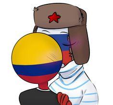 Read Colombia x Rusia from the story 🍀Multishipper en Countryhumans🍀 by mari-vwv (☭🍀Pasiva-UwU🍀) with reads. Ecuador, Mundo Comic, Anime Kawaii, Cartoon Network, Tweety, Fandoms, Comics, Country, Amor