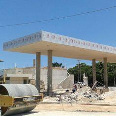 ¿Cómo se ve una Gasolinera en plena instalación de #paneldealuminio #MEXTONE?