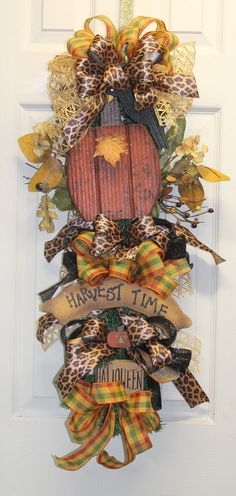 Harvest Time Fall Swag by southernchicbyle on Etsy, $48.00