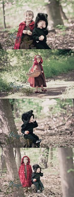 A basic guide on how to do a Little Red Riding Hood themed children's cosplay photo shoot with costume, prop and location ideas.  Photography Ideas