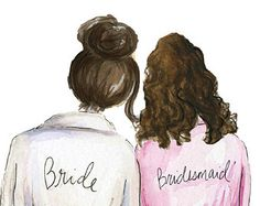 thank you bridesmaid pdf red head bride and dark brunette rh pinterest com cartoon bridesmaid clipart cartoon bridesmaid clipart